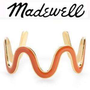MADEWELL Gold Waves Cuff Bracelet